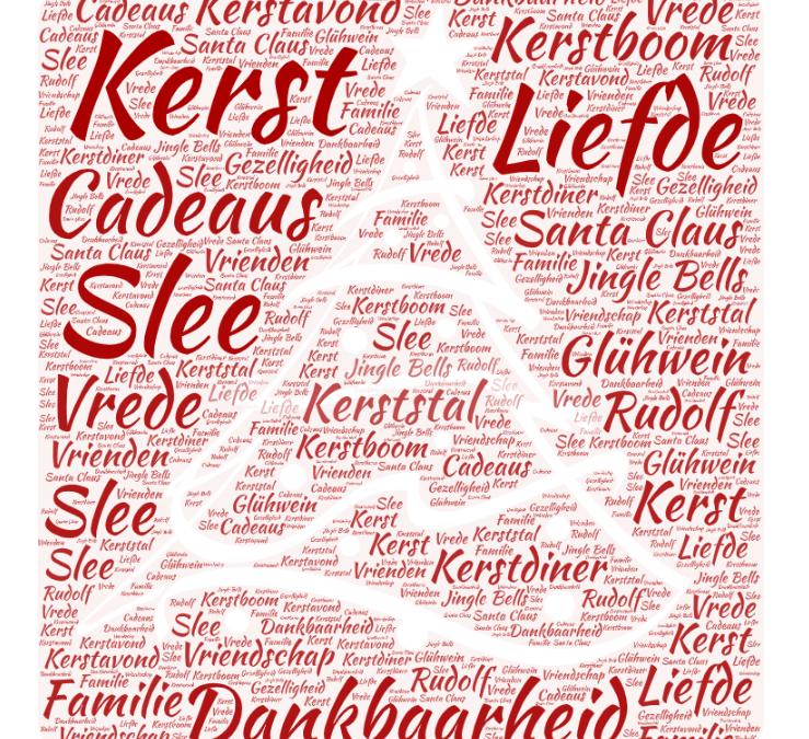Kerstboom afbeelding met tekst
